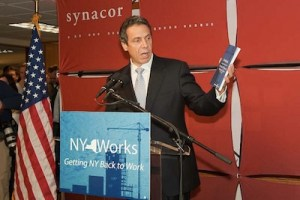 Andrew Cuomo presents his economic development plan in Buffalo. It includes a section on infrastructure, but doesn't tackle the tough questions. Photo: AndrewCuomo2010 via Flickr.