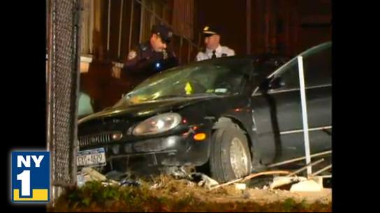 Police surveyed this scene, where two children were seriously injured, and decided not to issue any summonses or charges to tImage: NY1