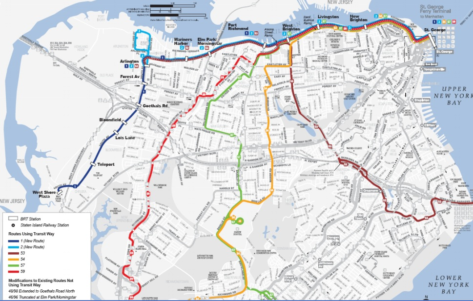 MTA Chooses Busway For Possible Staten Island North Shore Transit