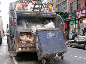 A 1999 report found that garbage truck drivers had the highest fatality rate of any category of NYC motorist. The city says it would take 1,000 new trucks to recycle foam food and drink containers. Photo: ##http://www.flickr.com/photos/southerncalifornian/14578962/##So Cal Metro/Flickr##