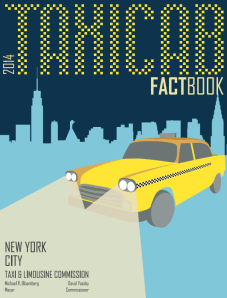 Fun facts about taxis -- but unlike in past years, nothing about driver safety. Image: TLC