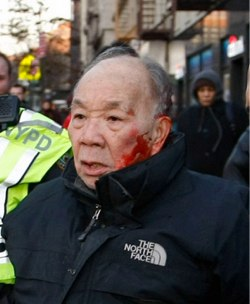 Kang Wong could get a year in jail for a jaywalking stop that resulted in his arrest. With nine pedestrians and a cyclist killed in 2014, no motorists were charged by NYPD or city DAs for taking a life. Photo: New York Post