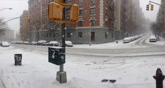 181st Street and Cabrini Boulevard. Photo: ##https://twitter.com/UptownCurrent/status/425718871765823488##@UptownCurrent##
