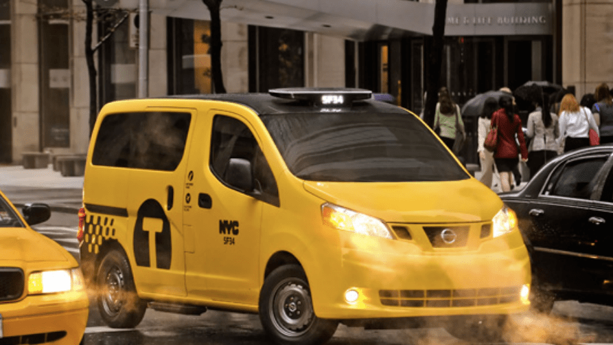 The Taxi of Tomorrow would be a win for cyclists. Image: TLC