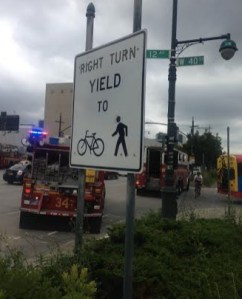 By declining to determine what caused a collision between a bus driver and a greenway cyclist, NYPD failed to take steps that could prevent future injuries. Photo: Hilda Cohen