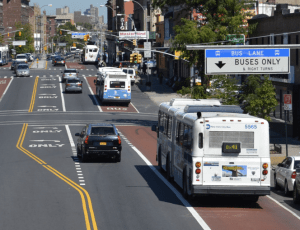 Webster Avenue SBS also included pedestrian safety projects. Car traffic and trip times have held steady. Image: DOT/MTA
