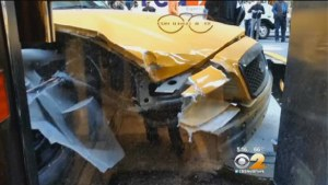 TLC vehicles were involved in thousands of crashes in the months after Cooper's Law took effect. The TLC has applied the law two times. Image: CBS 2