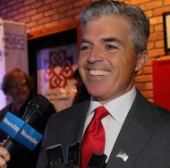 Suffolk County Exec Steve Bellone: pandering to motorists who insist on putting children's lives at risk. Photo: ##https://twitter.com/stevebellone##@StreveBellone##