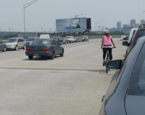 No bike lanes, and maybe not even a road diet, for the Riverside Drive viaduct. Photo: DOT [PDF]
