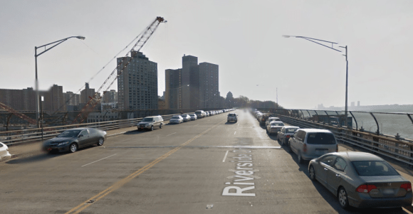 Key community board members in West Harlem say having anything less than two lanes in each direction will gridlock Riverside Drive. Photo: Google Maps