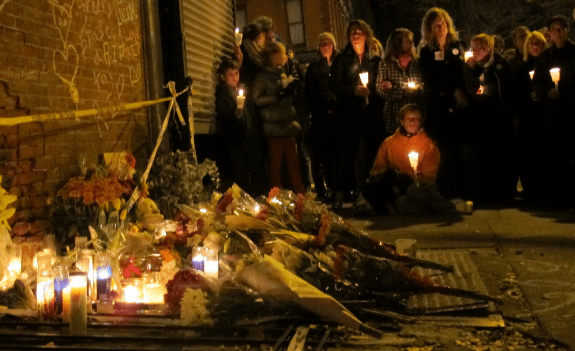 Vigil for Lucian Merryweather, November 5, 2013. Photo: Fort Greene Focus/Ben Brody/Flickr