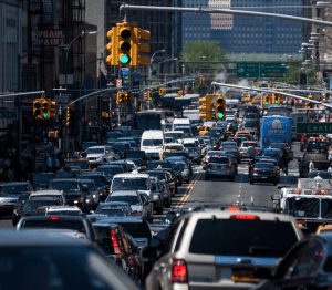 Are for-hire vehicles like Uber making Manhattan traffic worse? The city thinks so, and wants to slow down new licenses to study the issue. Photo: Clemens v. Vogelsang/Flickr
