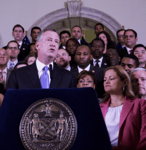 Mayor Bill de Blasio announces the fiscal year 2016 budget deal with the City Council. Photo: NYC Council/Flickr