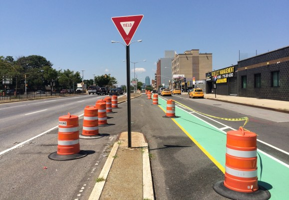 Slip lanes are being closed or redesigned to reduce speeding. Photo: Stephen Miller