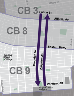 One corridor, three community boards. Three drastically different projects. Same old DOT. Map: DOT