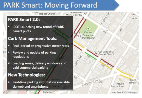 DOT promised PARK Smart 2.0 last year, but hasn't expanded the program since 2013. Image: DOT [PDF]