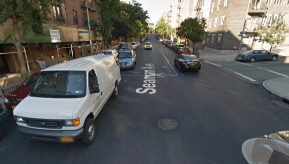Double-parked drivers make Seaman an obstacle course for cyclists. Image: Google Maps