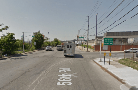 56th Road at 48th Street. Image: Google Maps