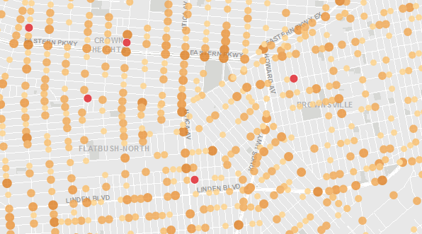 The public should know if NYPD is targeting traffic enforcement where it's most needed, even on streets that aren't truck routes. Image: Vision Zero View