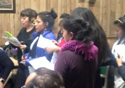 A group of Corona womendemanded a safer 111th Streetat CB 4's monthly meeting on Tuesday. Photo: Queens Bike Initiative