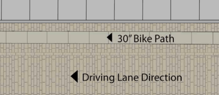 Street reconstruction in DUMBO will add special bike lanes to the neighborhood's cobblestone streets. Image: DOT