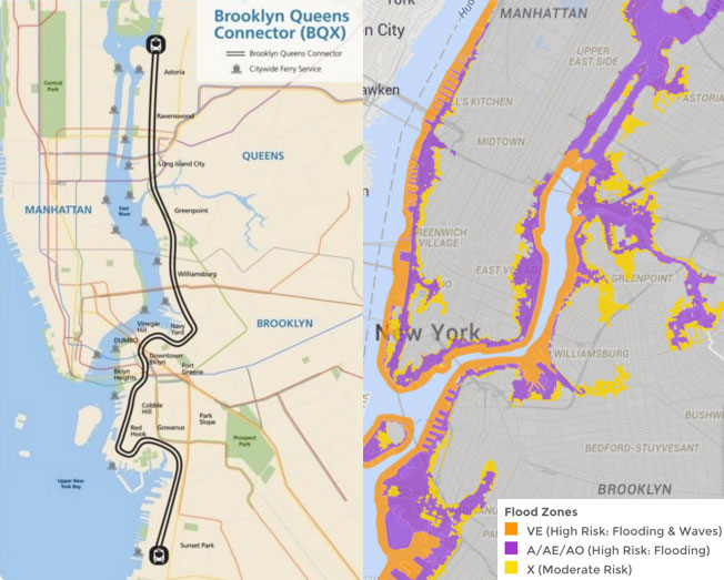 If nyc builds the streetcar it will run right through flood zones map of streetcar route nyc mayors office map of flood prone areas floodhelpny sciox Image collections