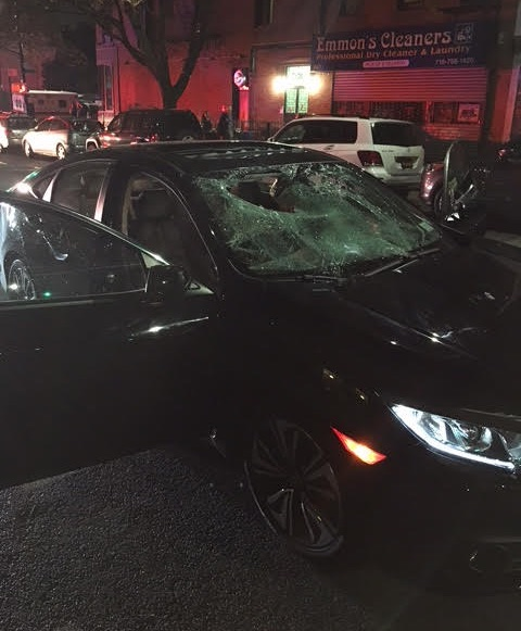NYPD blamed this collision on the cyclist, despite a witness account that the driver was speeding. Photo: Toby Cecchini
