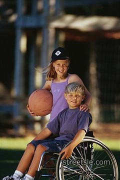 Disability wheelchair kids