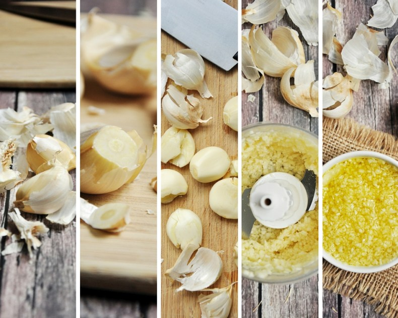 A step-by-step photo and video guide to show you how to make minced garlic at home that can last for weeks. It's a trick often used in restaurants.