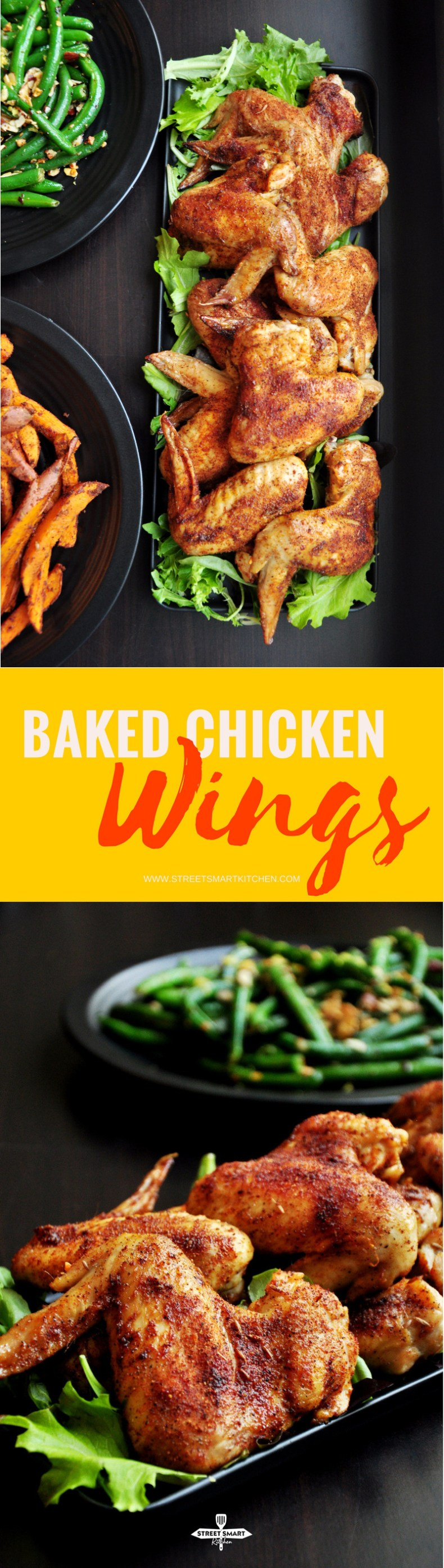 Mouthwatering baked chicken wings with savory crispy skin that locks in a smoky cumin flavor and much more. It only takes 10 minutes of hands-on time.