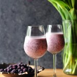 When blueberry meets vanilla ice cream, it's good. When blueberry meets vanilla ice cream and crisp white wine, it's even better. Spoil yourself with this fun blueberry cream wine slush in the holiday or anytime you like because it takes pretty much no time to make.
