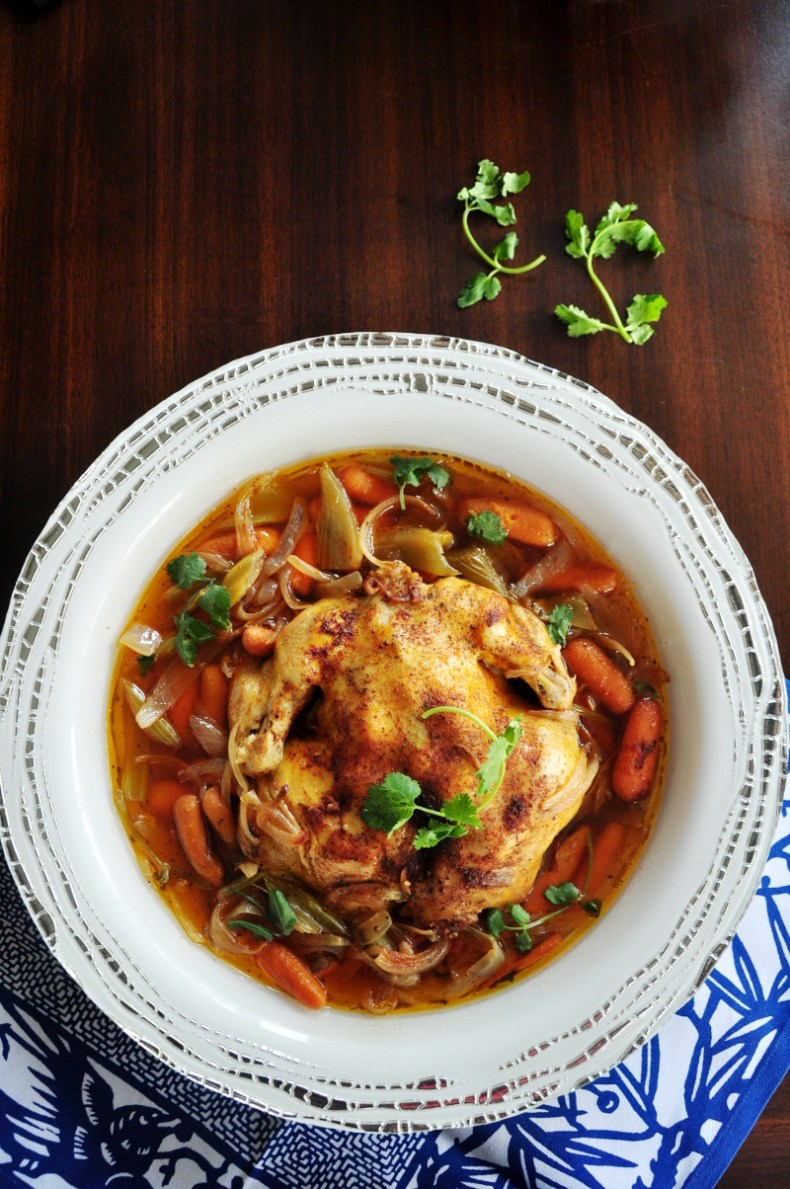 Juicy and tender, this crockpot whole chicken recipe over-delivers on flavor and only requires 10 minutes of hands-on time. Ideal for holidays or casual weeknights.