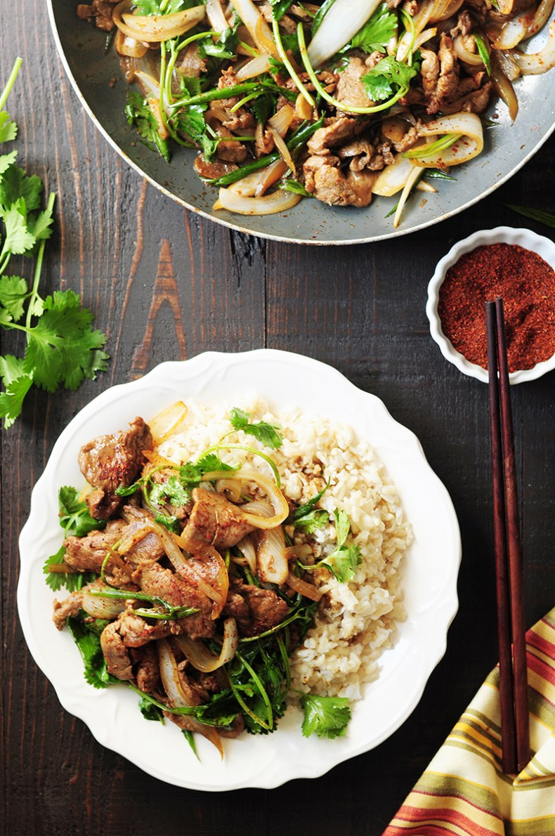 This authentic Chinese cumin lamb recipe takes less than 30 minutes to put together. It might just become your go-to lamb recipe after you try it.