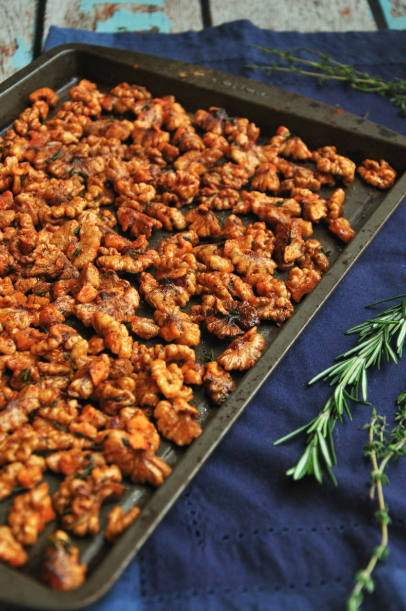 100% vegan and gluten free, these Roasted Spiced Walnuts are one of the easiest, tastiest, and most versatile things you can make at home.