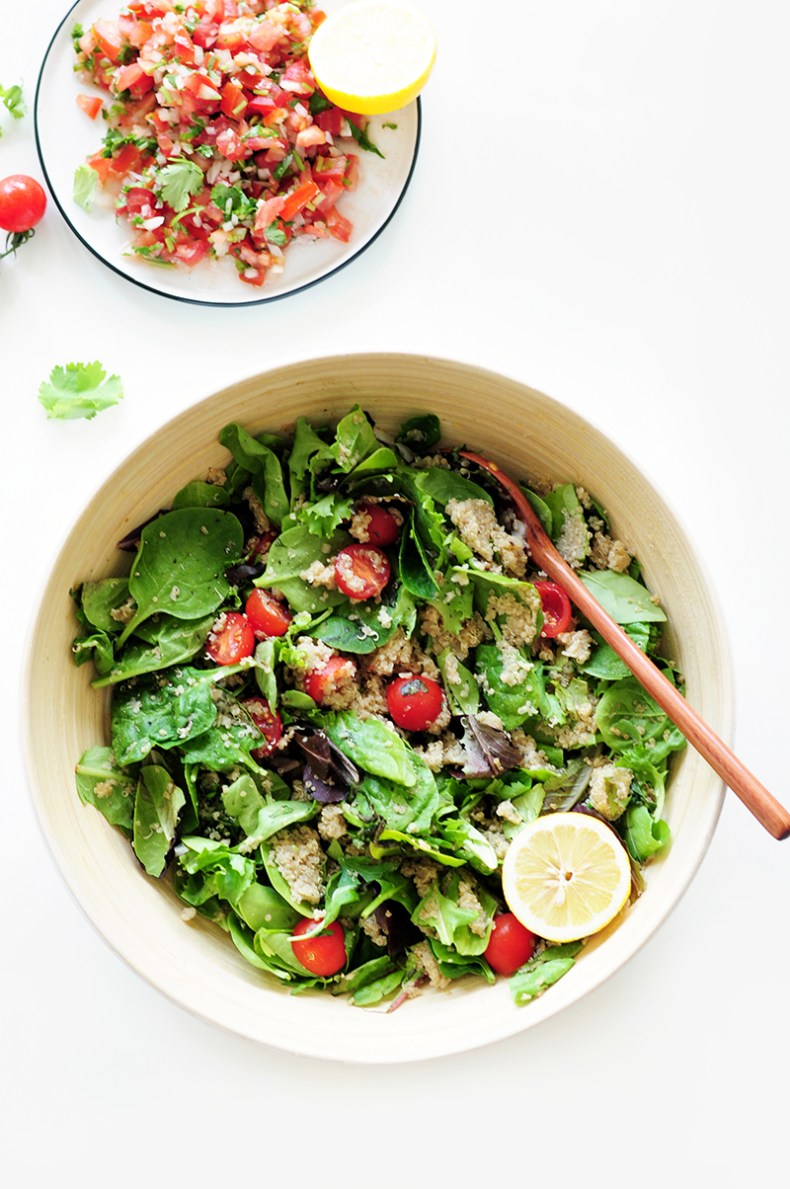 With a light, fluffy texture and savory flavor, this easy quinoa salad recipe may be simple, but it's definitely not boring. Make this recipe for a good summer barbecue dish or picnic or to complement some grilled kebabs.
