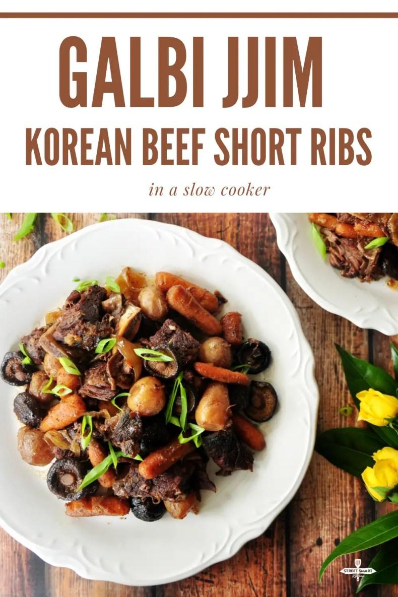 Galbi Jjim - Korean Beef Short Ribs