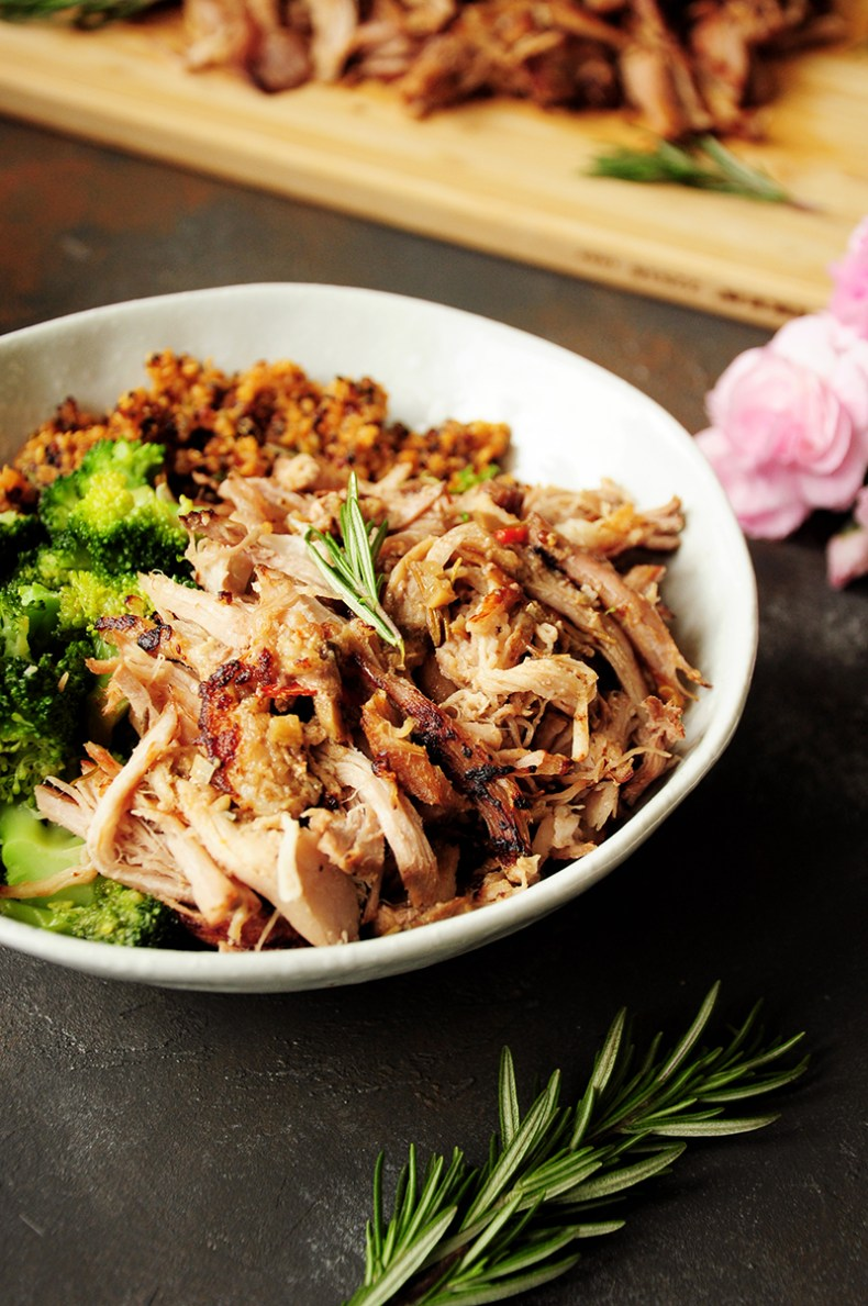 Sous vide pork shoulder cooked to fork tender without babysitting. This pulled pork recipe makes any main dish hearty, flavorful, and satisfying.