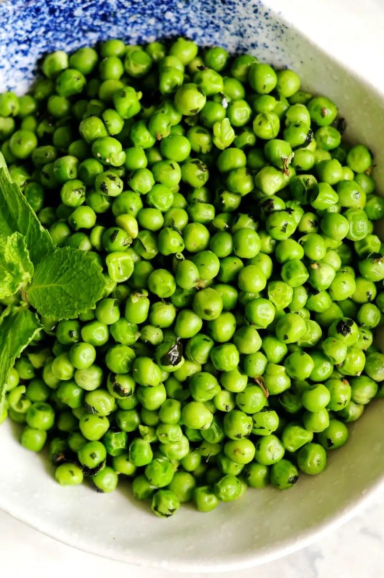 Minty Buttery Green Peas Recipe