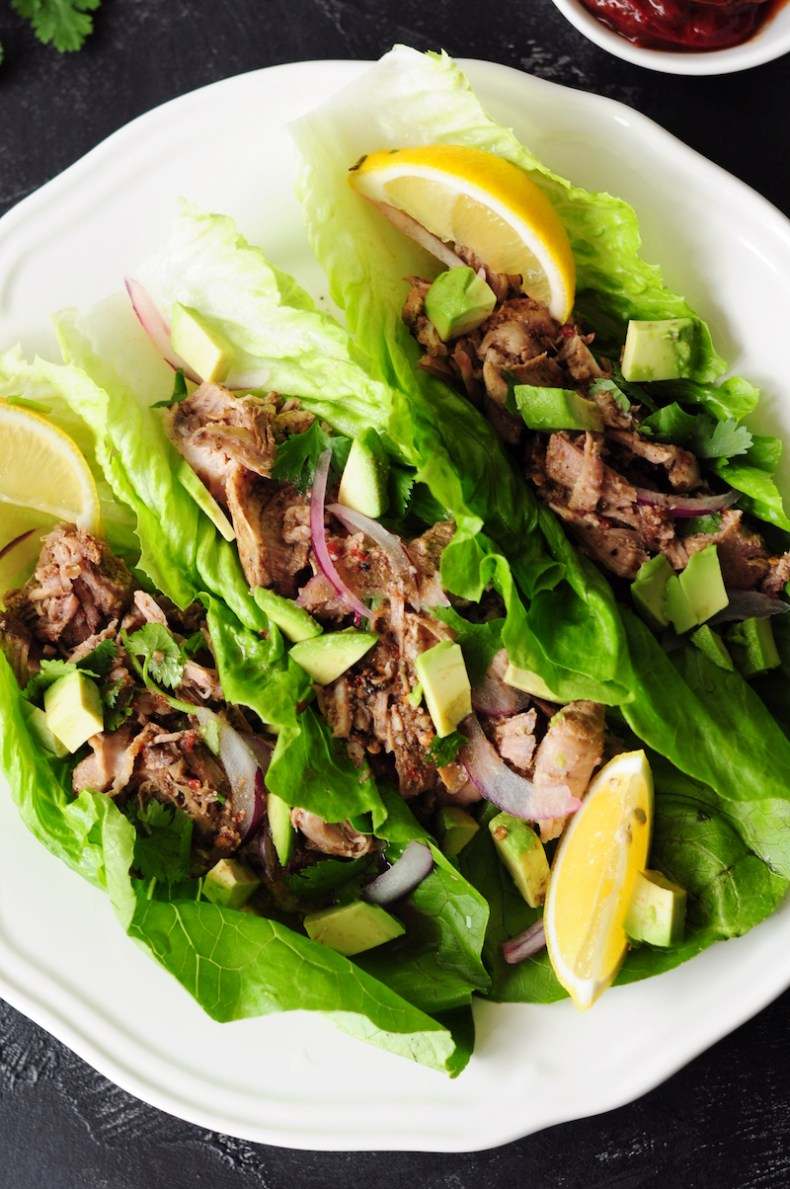Loaded with Mexican flavor and only 15 minutes of prep, this sous vide pulled pork folded in fresh lettuce leaves is the perfect way to keep weekday low-carb meals exciting.