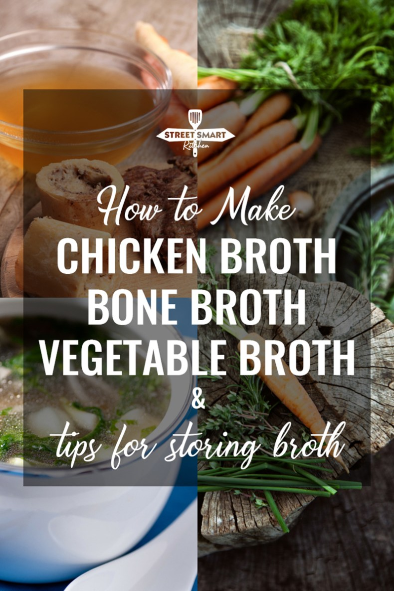 Have you ever tried to make homemade chicken broth? I started a while ago and we love the idea so much that I wanted to share what I learned about homemade broth with you including our go-to chicken broth, bone broth and vegetable broth recipes, broth benefits and how to store homemade broth for up to 6 months.