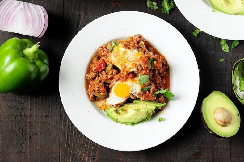 Shakshuka Recipe with Red Enchilada Sauce