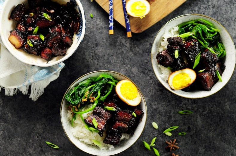 Shanghai-Style Braised Pork Belly with Hard-Boiled Eggs