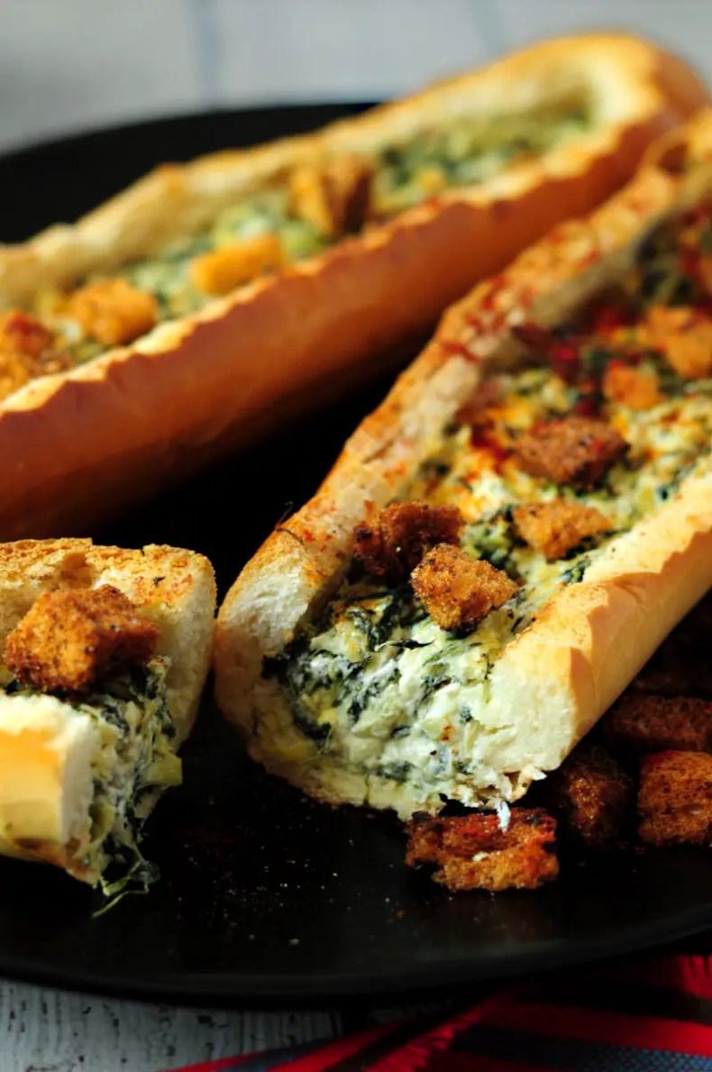 Spinach Artichoke Dip Stuffed Bread