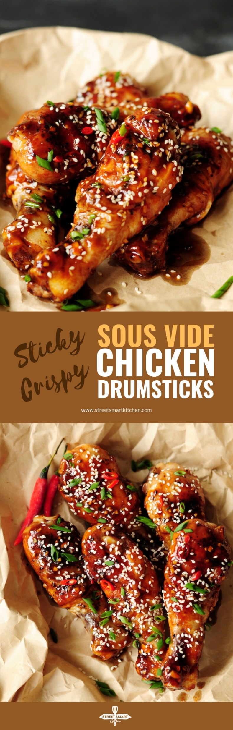 These Chinese-inspired sous vide chicken drumsticks are addictive in their own right, with each bite of tender, juicy meat and crispy skin.