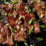 Quick and easy Asian ribs with only 3 ingredients pan grilled on the stove top. This is a great meat option for a busy workday dinner.