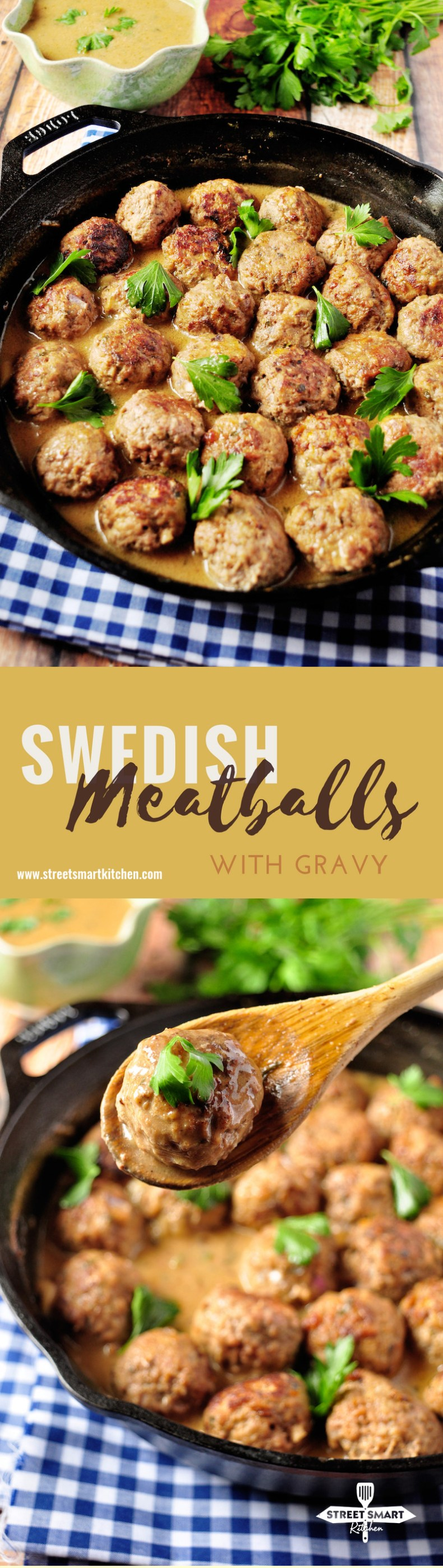 These Swedish meatballs are juicy, tender and uber flavorful. This recipe provides you a decent amount of savory gravy so that you can use it to fix a pasta meal or serve over mashed potatoes. Make some more meatballs to freeze for later.