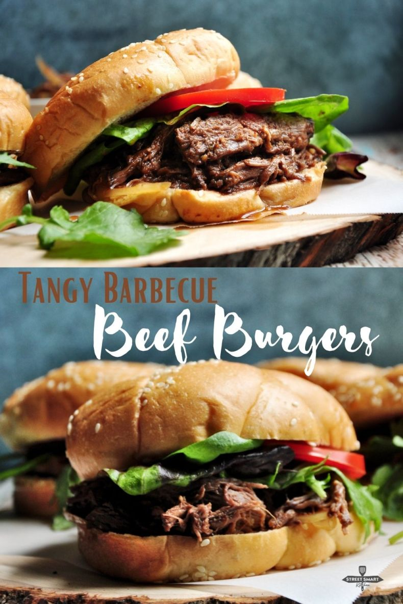 Tangy Barbecue Beef Burgers