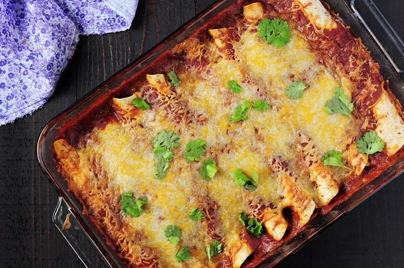 Garlic Turkey Enchiladas