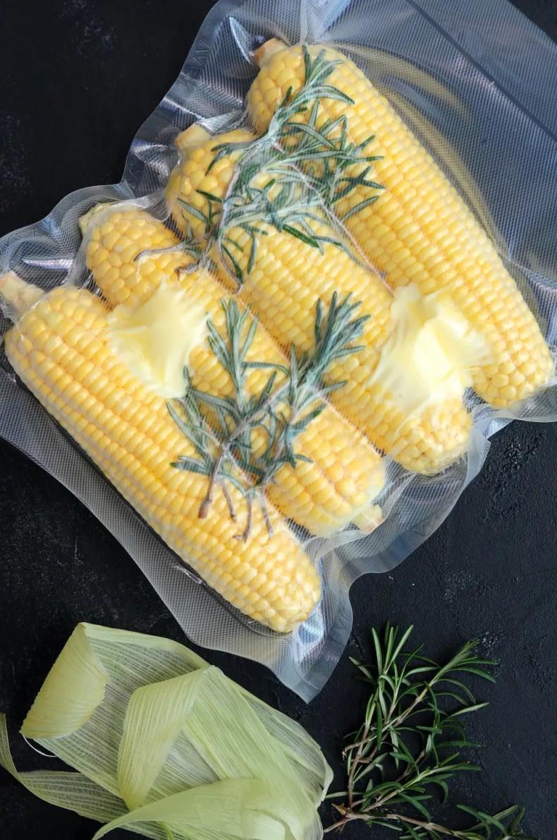 Vacuum-Sealed Corn on the Cob