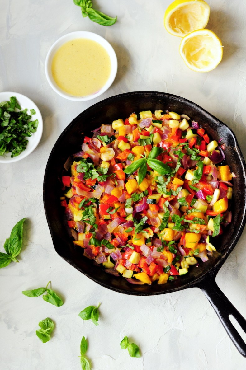 This vegetable mango relish is a great way to bring boring meals to life. It pairs perfectly with any protein dish or can be scooped up with tortilla chips.